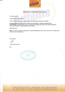 Britelite Authorization Letter